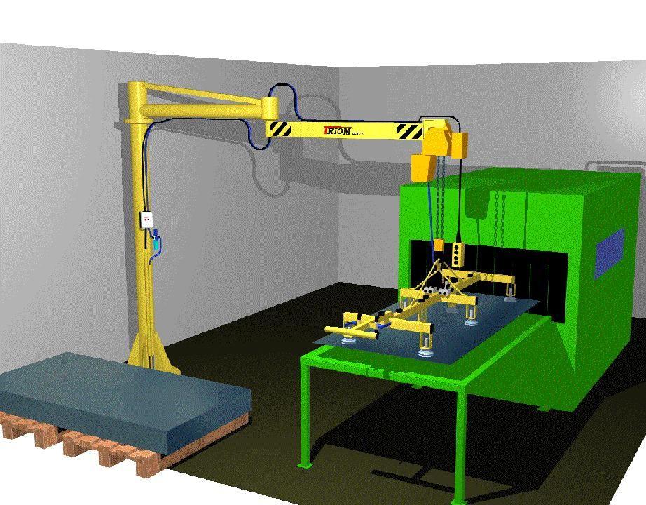 Articulated Arm Vacuum : Articulated jib crane manipulator rm