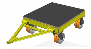 Handling cart for mould form transport