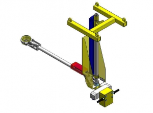 Suspended manipulator with a gripper
