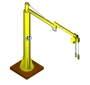 Articulated jib crane manipulator 2RM