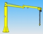 Double articulated jib crane manipulator 2RM with manulift